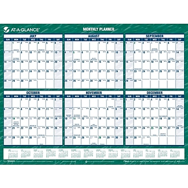 2014/2015 AT-A-GLANCE® Yearly Mini Erasable Planner, 16in. x 12in.