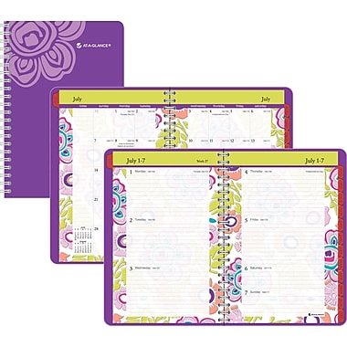 2013/2014 AT-A-GLANCE® Good Vibrations Weekly/Monthly Appointment Book, 5 1/4in. x 8in.
