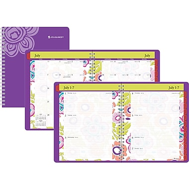 2014/2015 AT-A-GLANCE® Good Vibrations Weekly/Monthly Planner, 8 1/2in. x 11in.