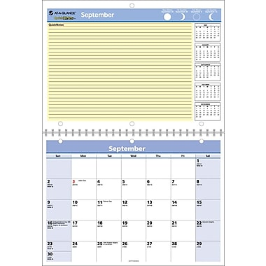 2014/2015 AT-A-GLANCE® QuickNotes® Academic Monthly Desk/Wall Calendar, 11in. x 8in.