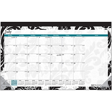 2014/2015 AT-A-GLANCE® Academic Madrid Compact Desk Pad, 17 3/4in. x 10 7/8in.