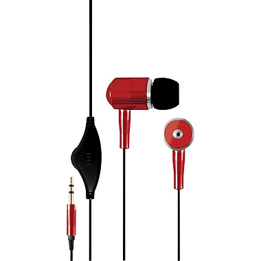Hip Street® Noise-Isolating Earbuds, Red