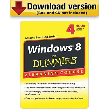 Windows 8 For Dummies - 30 Day Access for Windows (1-User) [Download]