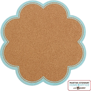 Martha Stewart Home Office™ with Avery™ Message Board, Petal, Blue Border, 14in. X 14in.