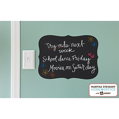 Martha Stewart Home Office™ with Avery™ Chalkboard Decal, Flourish, 11 1/2in. x 15 1/2in.