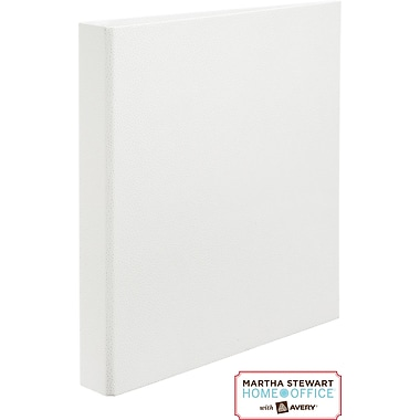Martha Stewart Home Office™ with Avery™ Shagreen Binder 1in. One-Touch EZD™ Ring, White