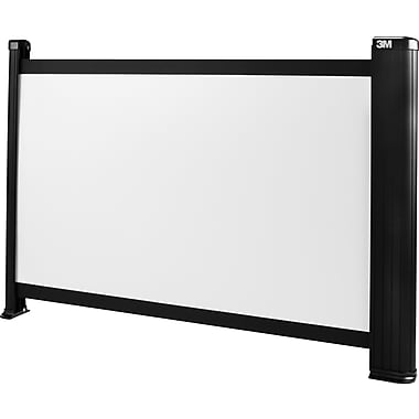 3M 16in. Portable Projector Screen, 16:9, Black Casing