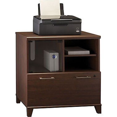 Bush® Achieve Collection Lateral File / Printer Stand, Sweet Cherry