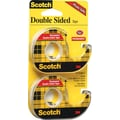 Scotch® Permanent Double-Sided Tape, 1/2in. x 11.1 Yards, 2/Pack