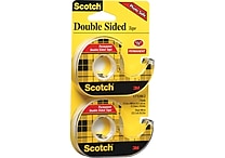 Scotch® Permanent Double-Sided Tape, 1/2' x 11.1 Yards, 2/Pack