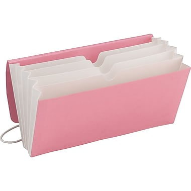 Smead® Pink Ribbon Tag Along Wallet Organizer, Pink, 3 1/2in. x 6 1/2in.