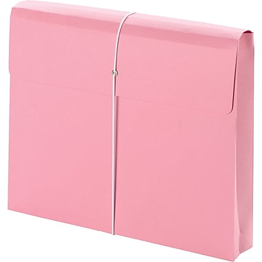 Smead® Pink Ribbon Expanding Wallets, 9 1/2in. x 11 3/4in., 2in. Expansion, Each
