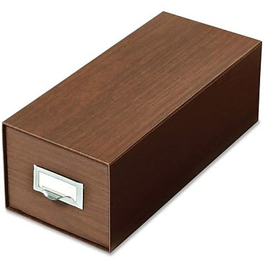 Globe-Weis Drawer-Style Index Card Box, 4
