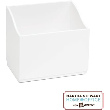 Martha Stewart Home Office with Avery Wall Manager Small Caddy, Chalk White,