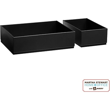 Martha Stewart Home Office with Avery Wall Manager Shelf Boxes, 21751, Graphite, 3in. x 6in.