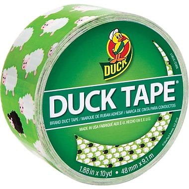Duck Tape Brand Duct Tape, Bah Bah Sheep, 1.88in.x 10 Yards