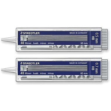 Staedtler Automatic Lead Dispensers, HB, 40/Pack