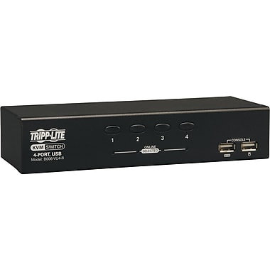 Tripp Lite 4-port Desktop USB KVM Switch, 1 2/3in. H x 7 8/9in. W x 2 8/9in. D