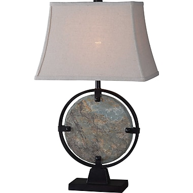 Kenroy Home Suspension Table Lamp, Natural Slate Finish