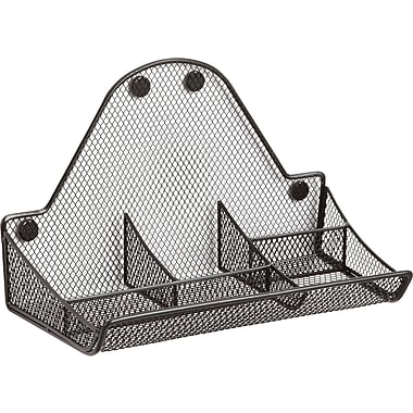 Safco® Onyx™ 4179 Magnetic Mesh Accessory Tray, Black