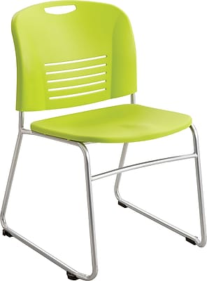 Safco 4292 Vy Stacking Chair, Grass green 148301