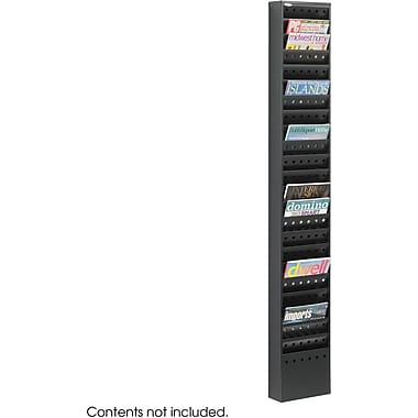 Safco 23-Pocket Steel Magazine Rack, Black