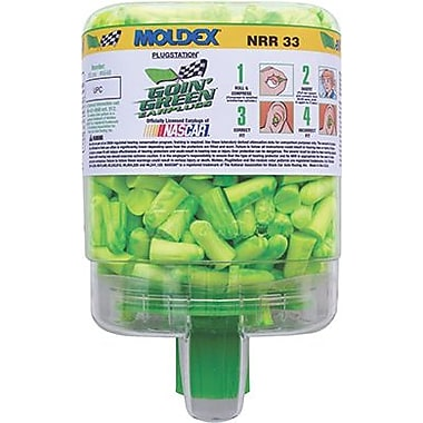Moldex® Goin Green® PlugStation® 507-6646 Uncorded Earplugs, 33 dB