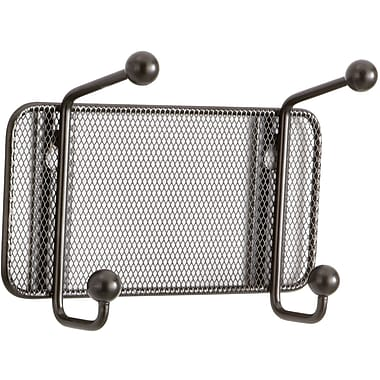 Safco® Onyx™ 6401 Black Mesh Wall Rack, 2 Hook