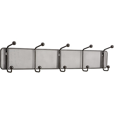 Safco® Onyx™ 6403 Black Mesh Wall Rack, 5 Hook
