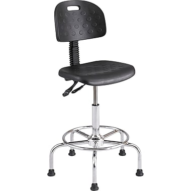 Safco® WorkFit™ 6952 Polyurethane Deluxe Industrial Chair, Black
