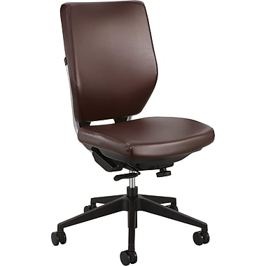 Safco® Sol™ 7065 Task Chair, Brown Vinyl