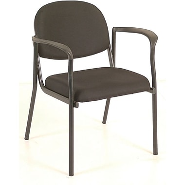 Raynor Eurotech Fabric Dakota Guest Chair, Black