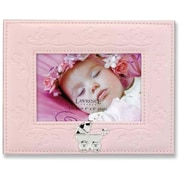 Pink Faux Leather 4x6 Picture Frame