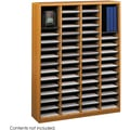 Safco® E-Z Stor® 9331 Literature Organizer, 52 1/4in.(H) x 40in.(W) x 11 3/4in.(D), Medium Oak