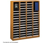 Safco® E-Z Stor® 9331 Literature Organizer, 52 1/4(H) x 40(W) x 11 3/4(D), Medium Oak