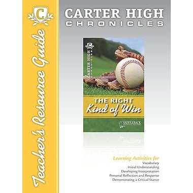 Saddleback Educational Publishing® The Right Kind of Win Teacher's Resource Guide CD; Grades 9-12