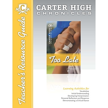 Saddleback Educational Publishing® Too Late Teacher's Resource Guide CD; Grades 9-12