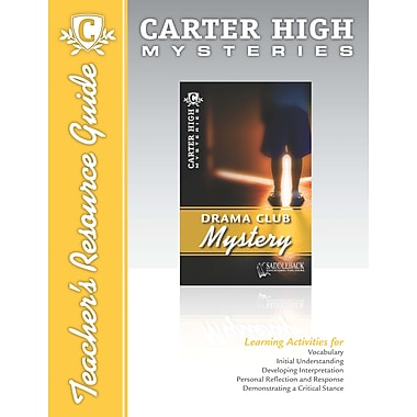 Saddleback Educational Publishing® Drama Club Mystery Teacher's Resource Guide CD; Grades 9-12