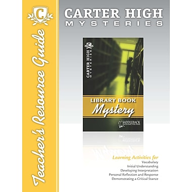 Saddleback Educational Publishing® Library Book Mystery Teacher's Resource Guide CD; Grades 9-12