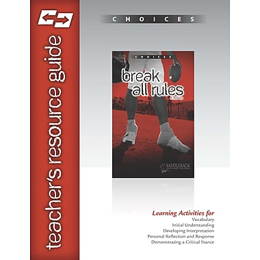 Saddleback Educational Publishing® Break All Rules Teacher's Resource Guide CD; Grades 9-12
