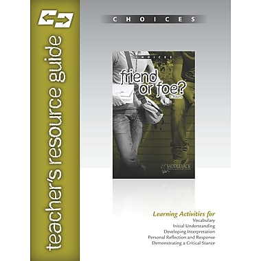 Saddleback Educational Publishing® Friend or Foe? Teacher's Resource Guide CD; Grades 9-12