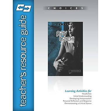 Saddleback Educational Publishing® Pay Back Teacher's Resource Guide CD; Grades 9-12