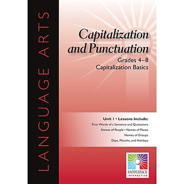 Saddleback Educational Publishing® Capitalization Basics; Grades 4 - 8