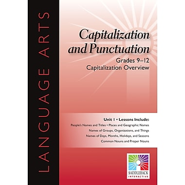Saddleback Educational Publishing® Capitalization Overview; Grades 9-12