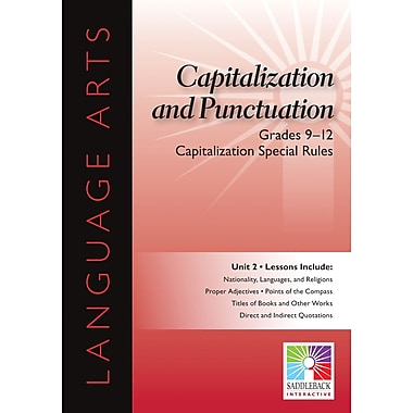 Saddleback Educational Publishing® Capitalization Special Rules; Grades 9-12