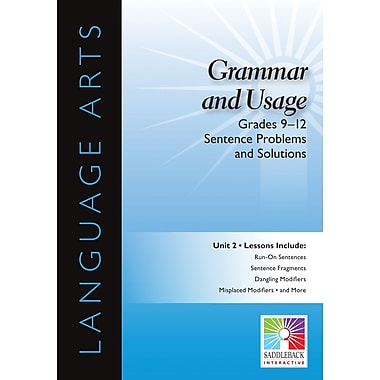Saddleback Educational Publishing® Grammar and Usage; Sentence Problems and Solutions, Grades 9-12