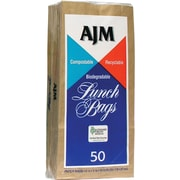 AJM Packaging Corporation® LB24LAJ Standard Paper Lunch Bag, Brown, 1200/Case