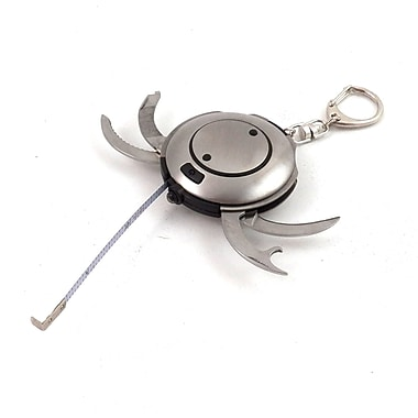 Bey-Berk Brushed Stainless  Steel Multifunctional Key Ring