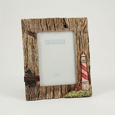 Bey-Berk Resin Lighthouse Picture Frame With Easel Back, 5