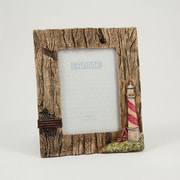 "Bey-Berk Resin Lighthouse  Picture Frame With Easel Back, 5"" x 7"""